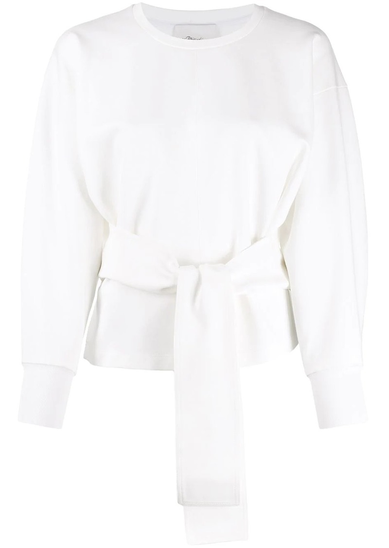 3.1 Phillip Lim tie waist knitted top