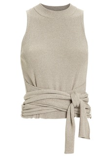 3.1 Phillip Lim Tie Waist Lurex Knit Top