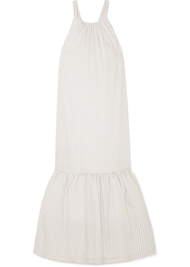 3.1 Phillip Lim Tiered Striped Cotton-blend Maxi Dress