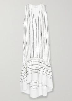 3.1 Phillip Lim Tiered Striped Silk Midi Dress