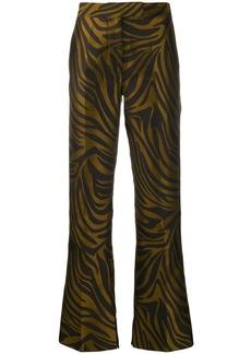 3.1 Phillip Lim tiger-print bootcut trousers