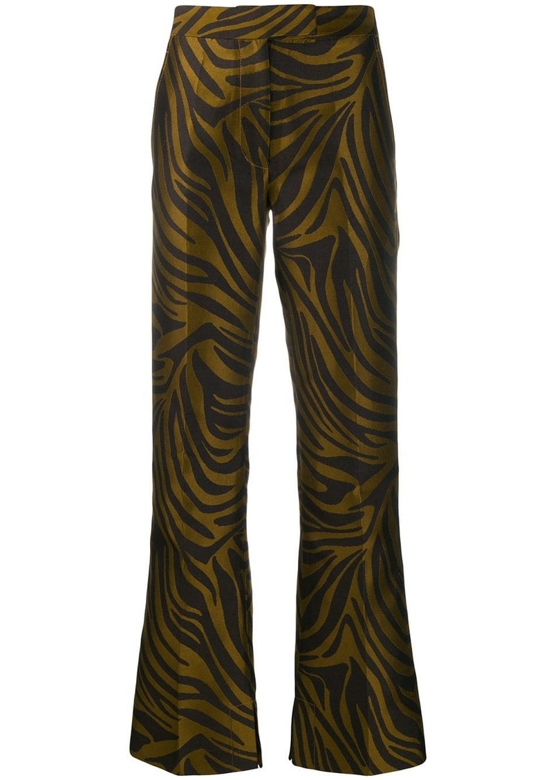 3.1 Phillip Lim tiger-print bootcut trousers