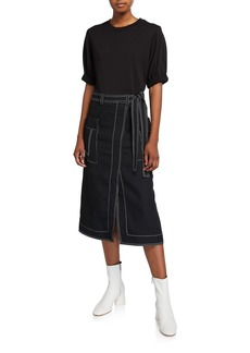 3.1 Phillip Lim Topstitch Combo Tee Dress