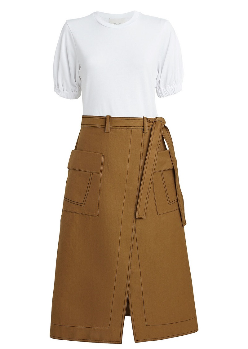 3.1 Phillip Lim Topstitch Skirt T-Shirt Dress