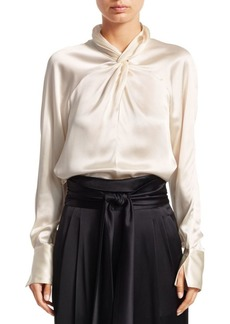3.1 Phillip Lim Twisted Silk Blouse