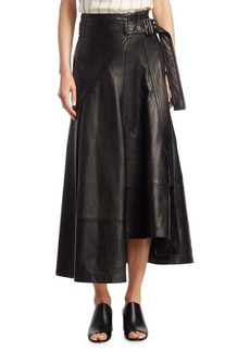 3.1 Phillip Lim Utility Leather Midi Skirt