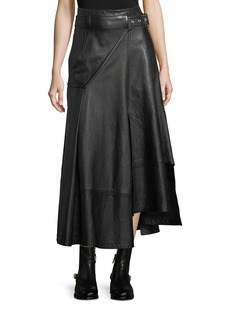 3.1 Phillip Lim Utility Long Leather Skirt
