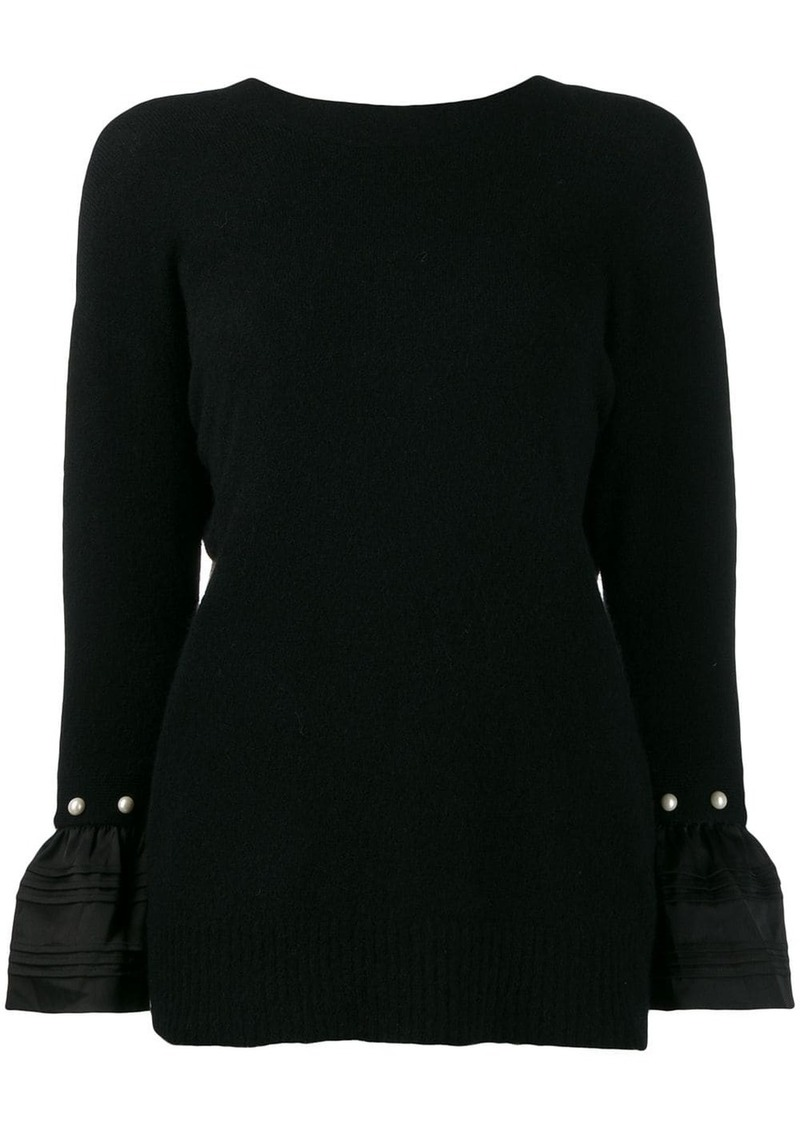 3.1 Phillip Lim v-back embellished jumper