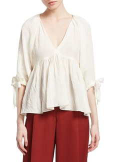 3.1 Phillip Lim V-Neck Empire Top