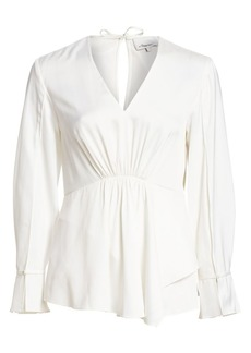 3.1 Phillip Lim V-Neck Peplum Top