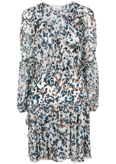 3.1 Phillip Lim V-neck printed flared dress