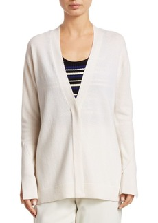 3.1 Phillip Lim V-Neck Side-Slit Cashmere Cardigan
