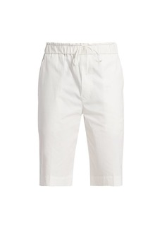 3.1 Phillip Lim Washed Poplin Pull-On Shorts