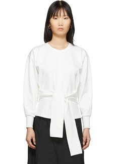3.1 Phillip Lim White Belt Tie Pullover