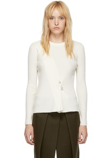 3.1 Phillip Lim White Pearl Pin Sweater