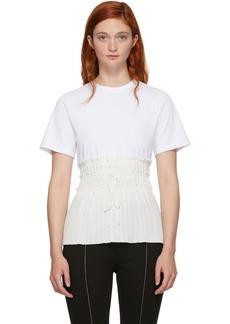 3.1 Phillip Lim White Pleated Waist T-Shirt