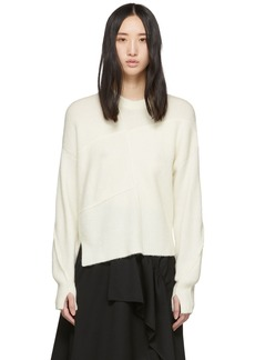 3.1 Phillip Lim White Wool Lofty Basket Weave Sweater