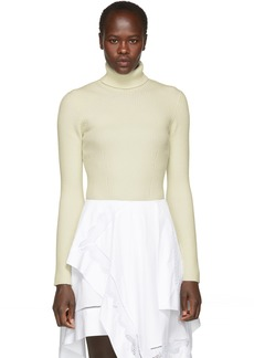 3.1 Phillip Lim White Wool Rib Turtleneck