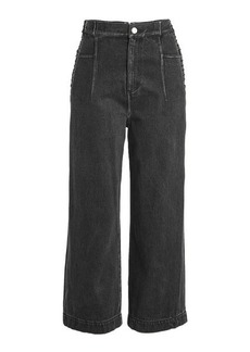 3.1 Phillip Lim Wide Leg Jeans with Lace Up Sides