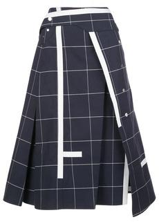 3.1 Phillip Lim Window Pane asymmetric skirt