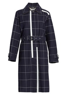 3.1 Phillip Lim Windowpane Check Trench Coat
