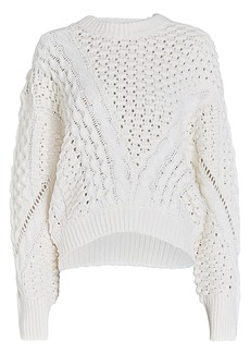 3.1 Phillip Lim Wool-Blend Cable Knit Sweater
