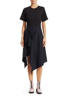 3.1 Phillip Lim Wool T-Shirt Handkerchief Dress