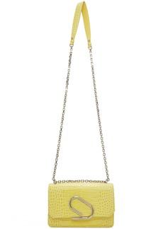 3.1 Phillip Lim Yellow Croc Alix Chain Clutch