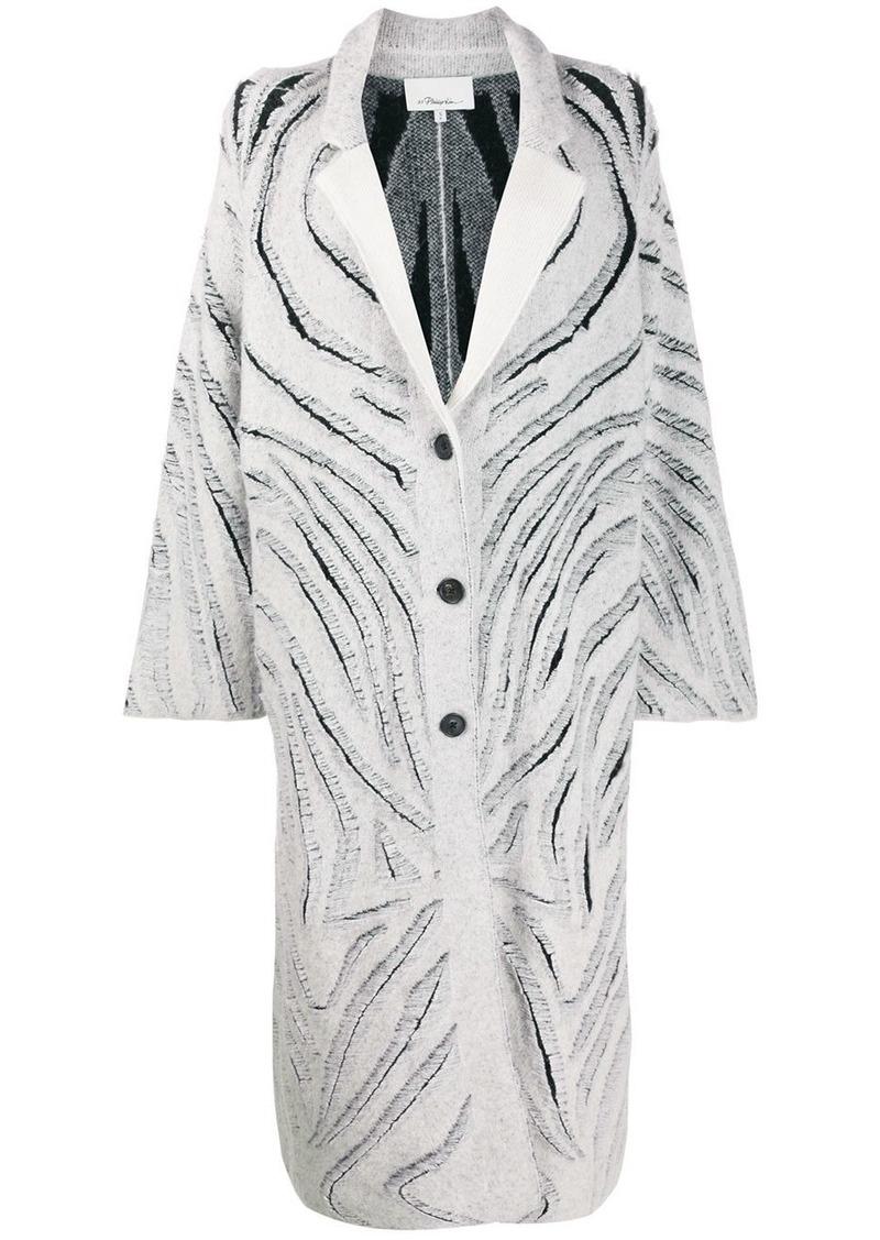 3.1 Phillip Lim Zebra Fringe Coat