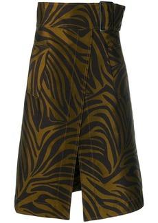 3.1 Phillip Lim Zebra Print Belted Skirt