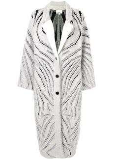 3.1 Phillip Lim zebra print oversized coat