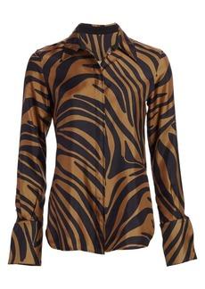 3.1 Phillip Lim Zebra-Print Shirt