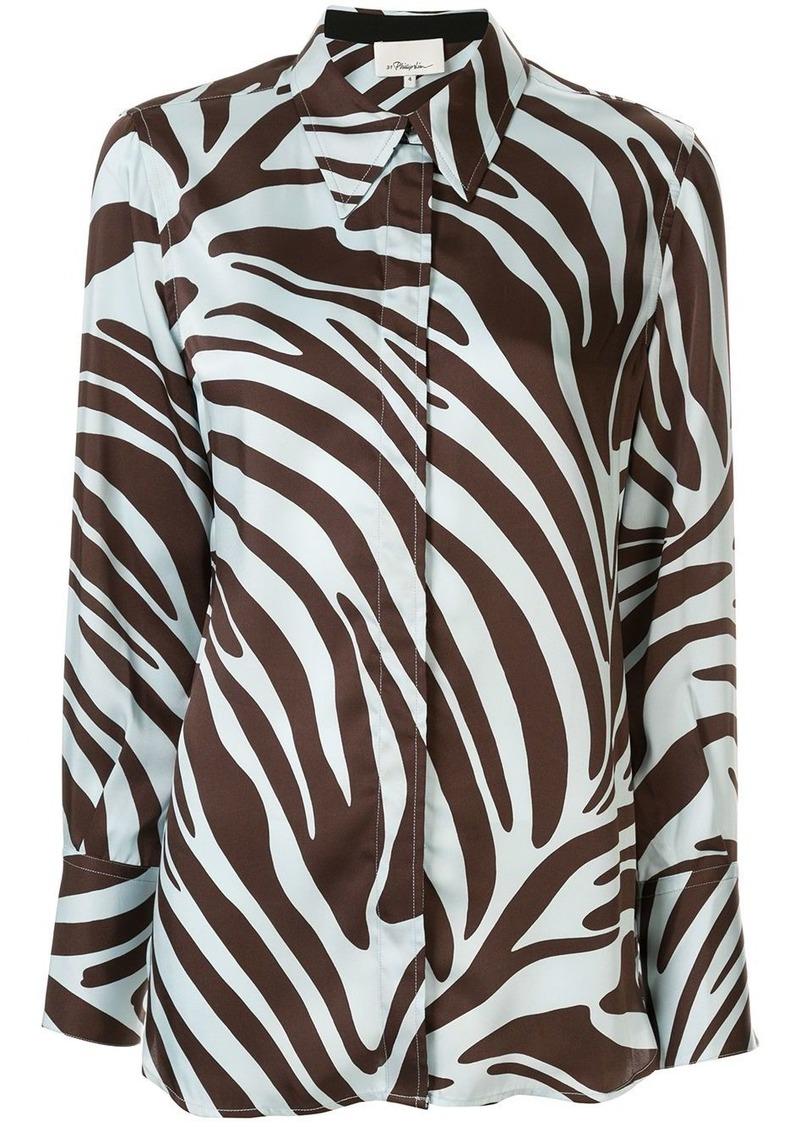 3.1 Phillip Lim zebra print shirt dress
