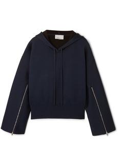 3.1 Phillip Lim Zip-detailed Wool-blend Hoodie