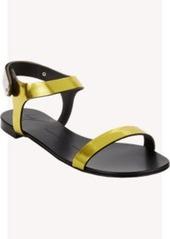 Giuseppe Zanotti Plated Ankle-Strap Flat Sandals