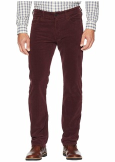 34 Heritage Courage Straight Leg in Burgundy Cord