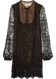Emilio Pucci Embellished lace mini dress