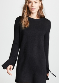 360 Cashmere 360 SWEATER Rowyn Cashmere Sweater Dress with Tie Sleeve