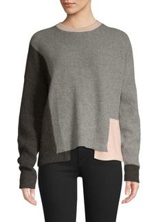 360 Cashmere Akima Colorblock Cashmere Sweater