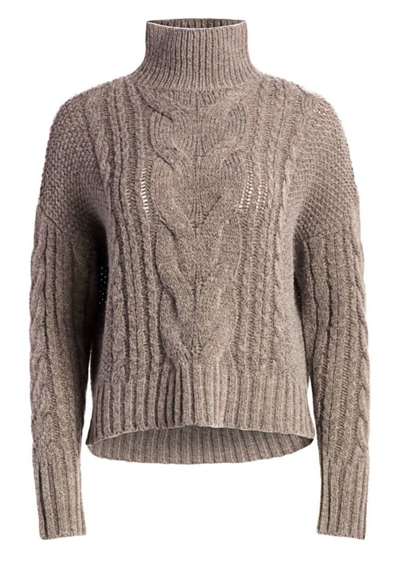 360 Cashmere Alexia Cable-Knit Funnelneck Sweater