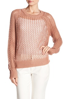 360 Cashmere Amira Open Linen Blend Sweater