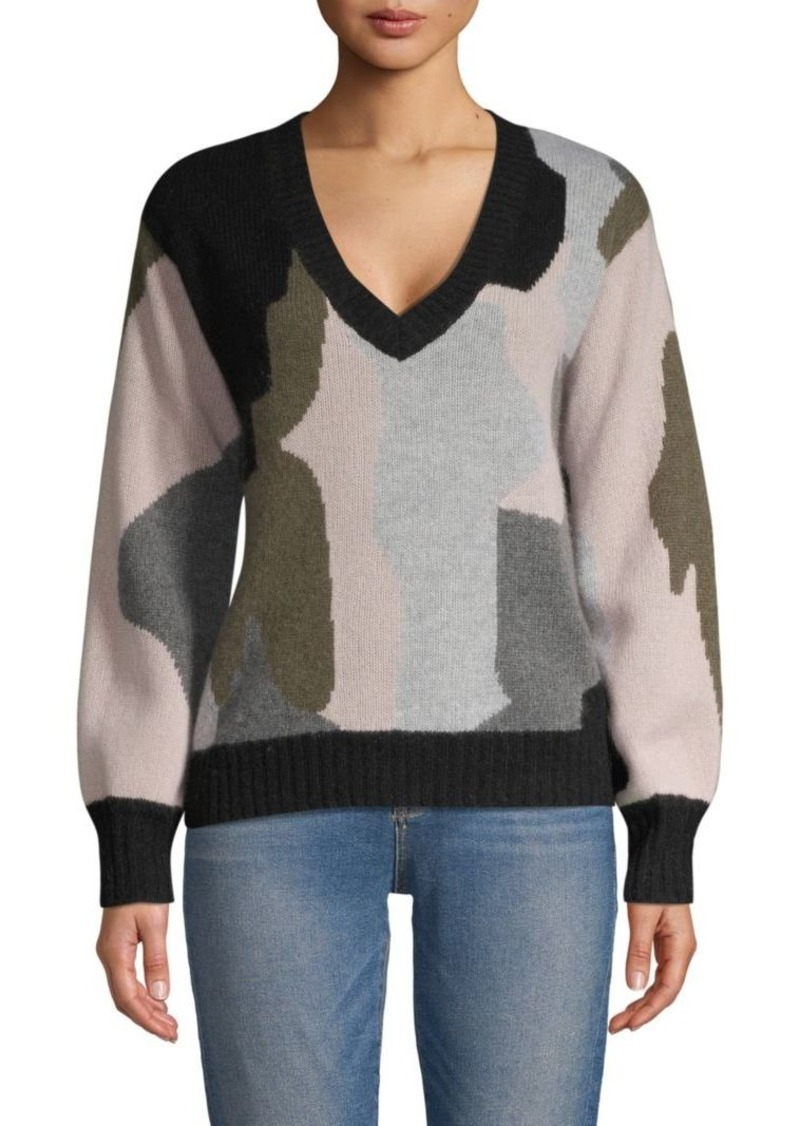360 Cashmere Cashmere Camo Sweater