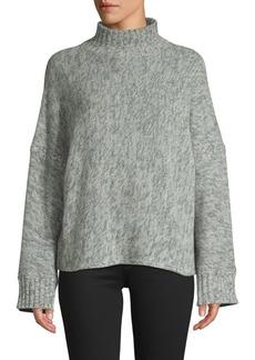 360 Cashmere Cashmere Wide Sleeve Mockneck Sweater