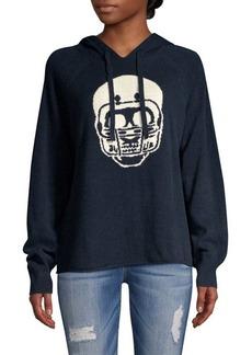 360 Cashmere Collegiate Skull Cashmere Hoodie