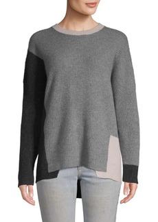 360 Cashmere Colorblocked Cashmere Sweater