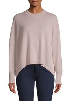 360 Cashmere Crewneck High-Low Cashmere Sweater