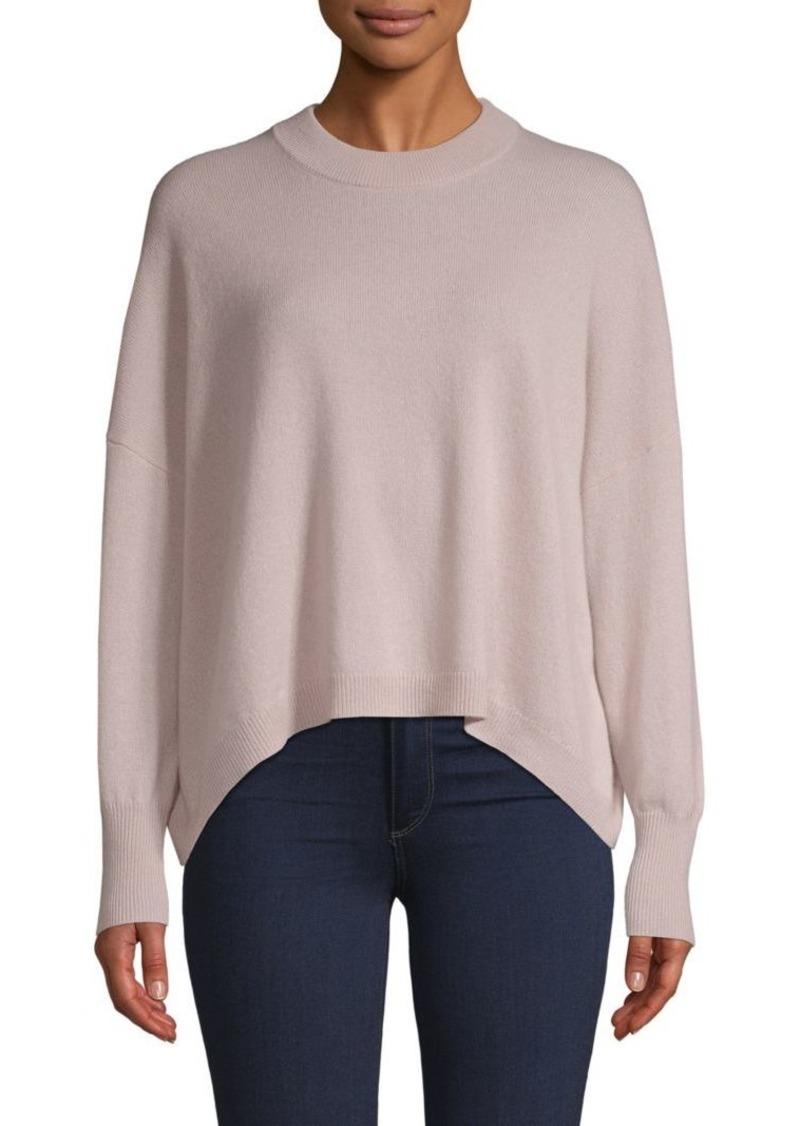 360 Cashmere Crewneck High-Low Cashmere Sweater