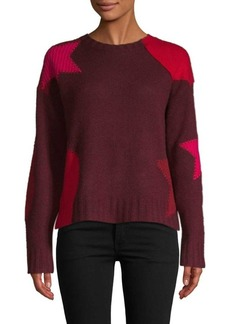 360 Cashmere Cropped Star Cashmere Sweater