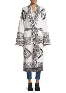 360 Cashmere Cybil Long Navajo Belted Cardigan