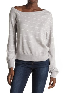 360 Cashmere Diane Stripe Print Sweater